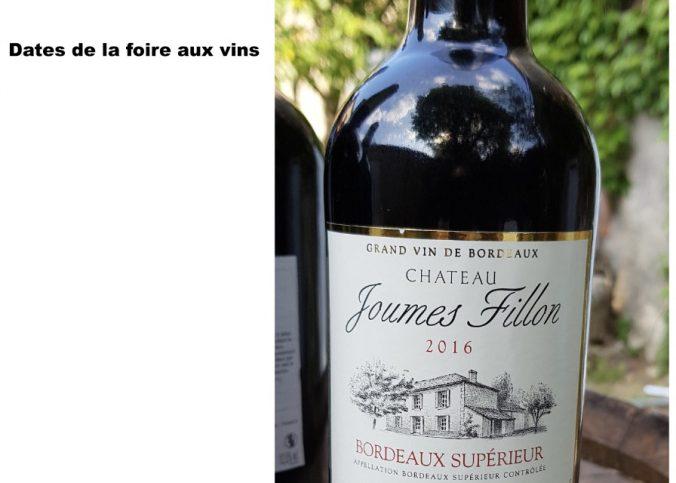 Date foire aux vins